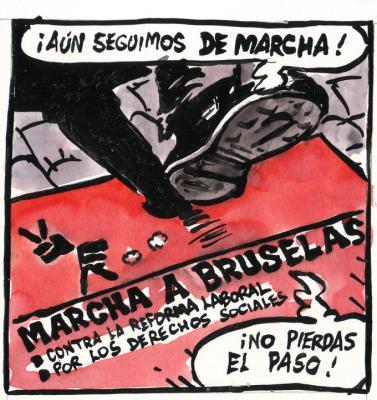 DIBUJO DE AZAGRA PARA LA MARCHA (gracias compañero)